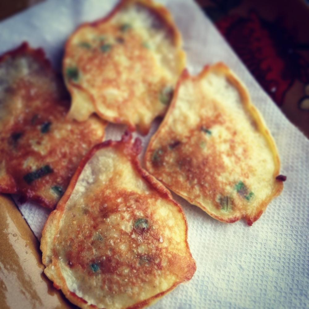 millet scallion pancakes
