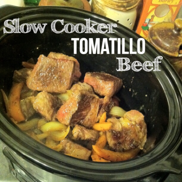 slow cooker tomatilla beef