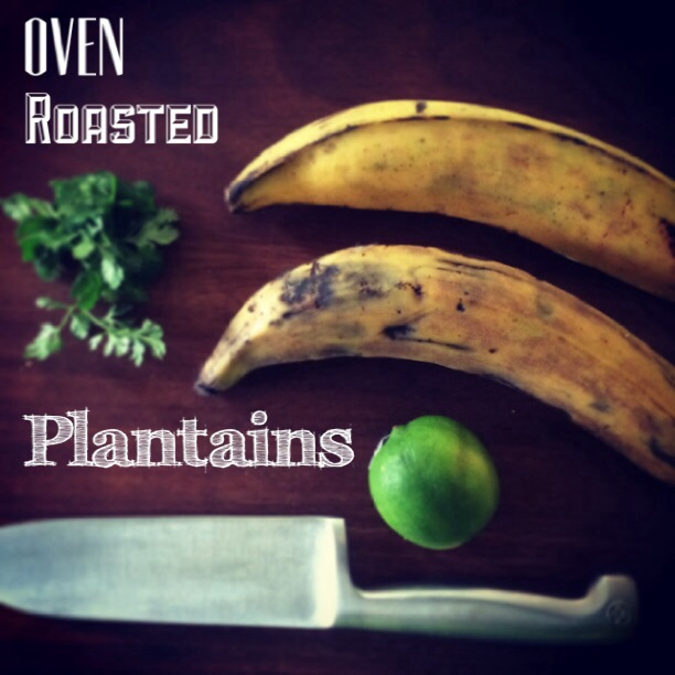 oven roasted plantains