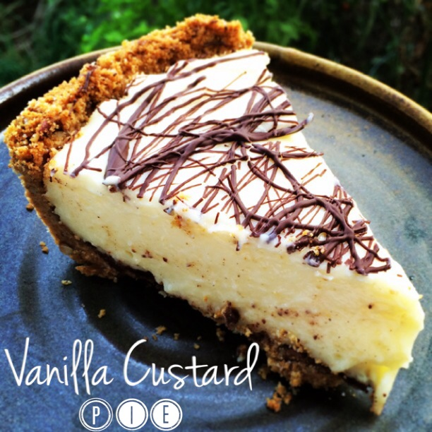 vanilla custard pie
