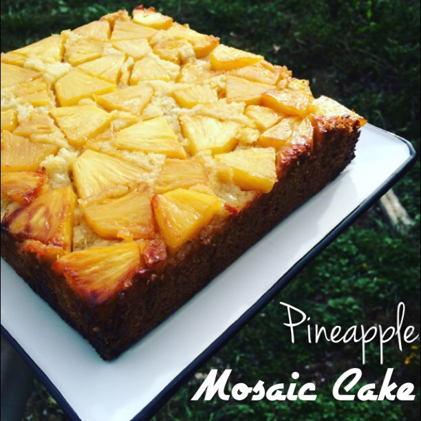 Pineapple Mosaic Cake
