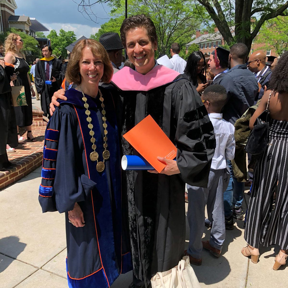 Gettysburg College President Janet Morgan Riggs with new Gettysburg College Honorary Doctor of Music Francisco J. Núñez