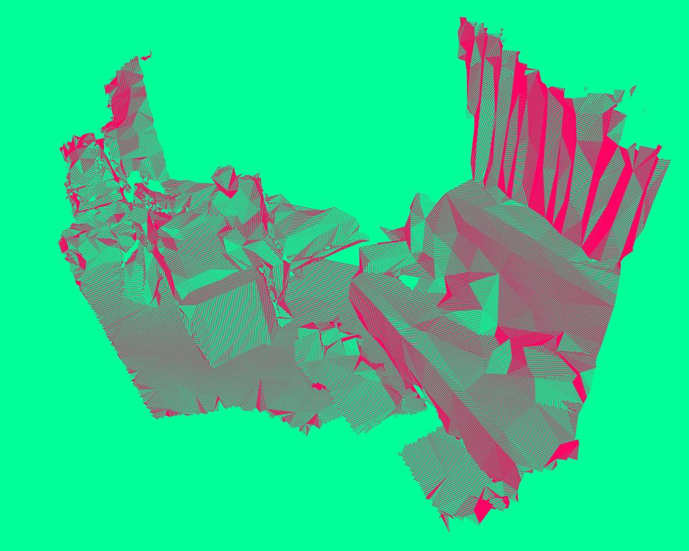 Suburban Fragment #01  Kinect v.1 + Skanect+ Meshlab + Photoshop CC.  (2015)