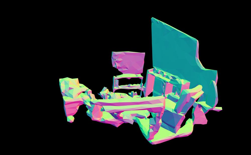 Suburban Fragment #02  Kinect v.1 + Skanect+ Meshlab + Photoshop CC.  (2016)