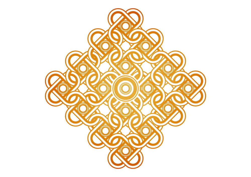Knots Pattern made manually in Adobe Photoshop CC.  (2014)