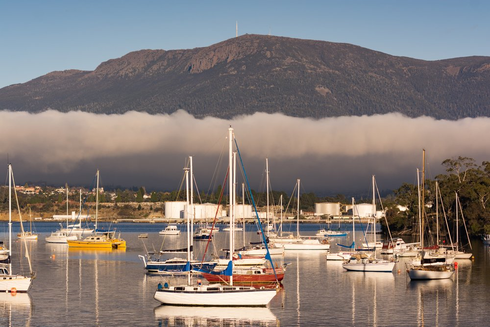 Kunanyi  / Mt. Wellington from Gielston Bay  Nikon D7100