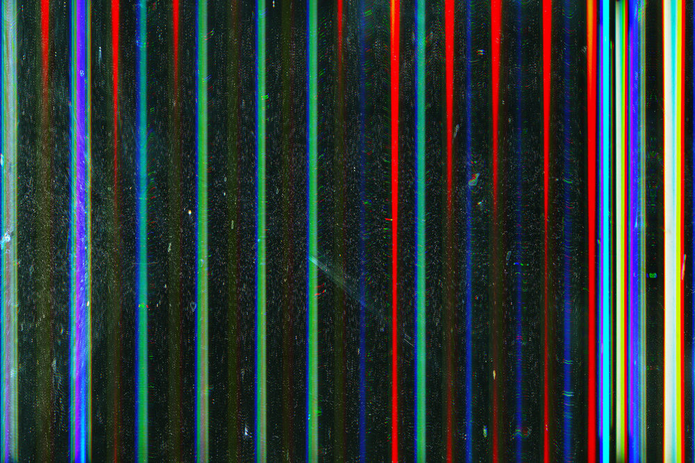 Neoretro Wavelength  LED light scanned with digital flatbed scanner (2014)