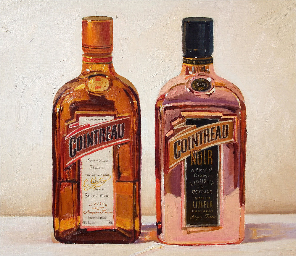 Orange and Purple (Cointreau), oil on canvas, 20 x 24 in