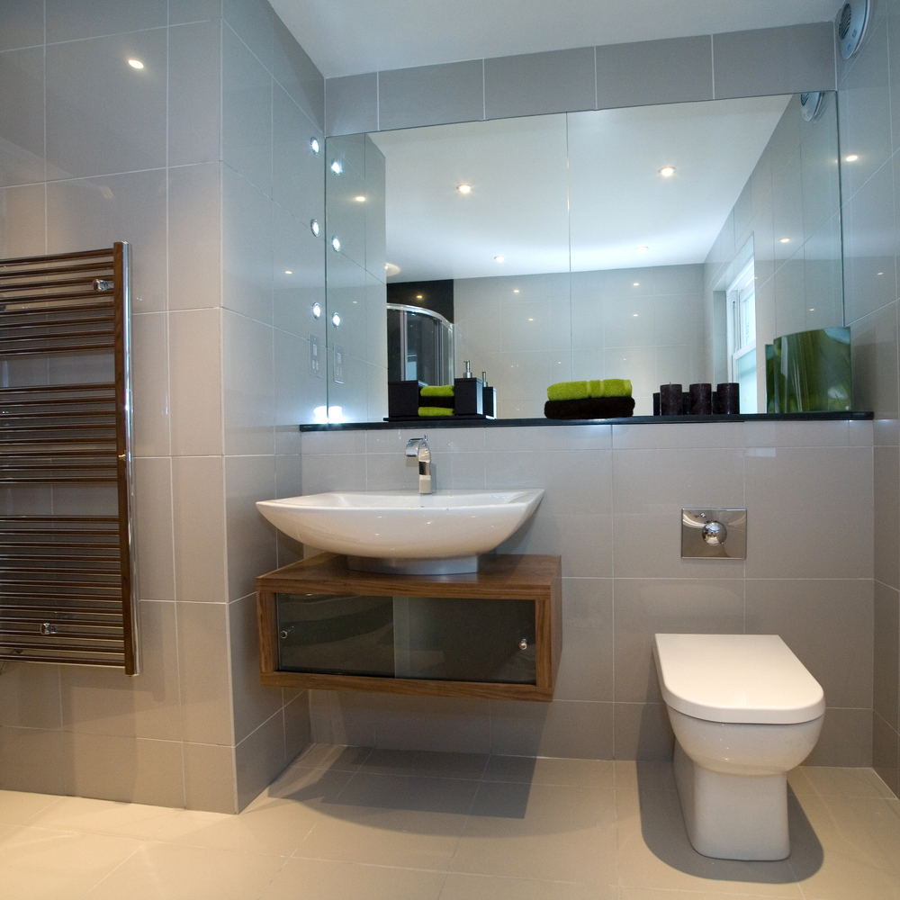 Polished bathrooms