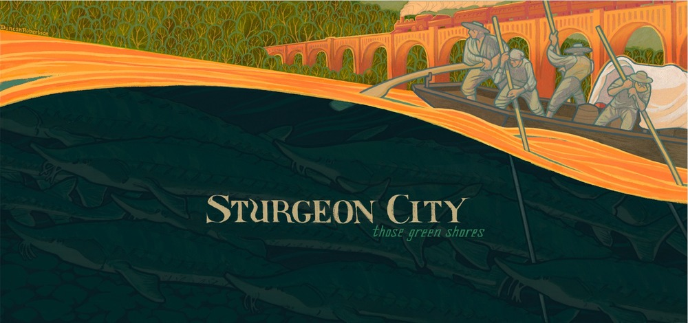 """Artwork from our album, """"Those Green Shores"""" by Richmond artist Duncan Robertson."""