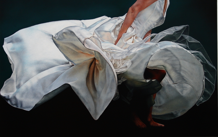 """Weightless: Bloom 3""  oil on linen 32 x 50 SOLD"