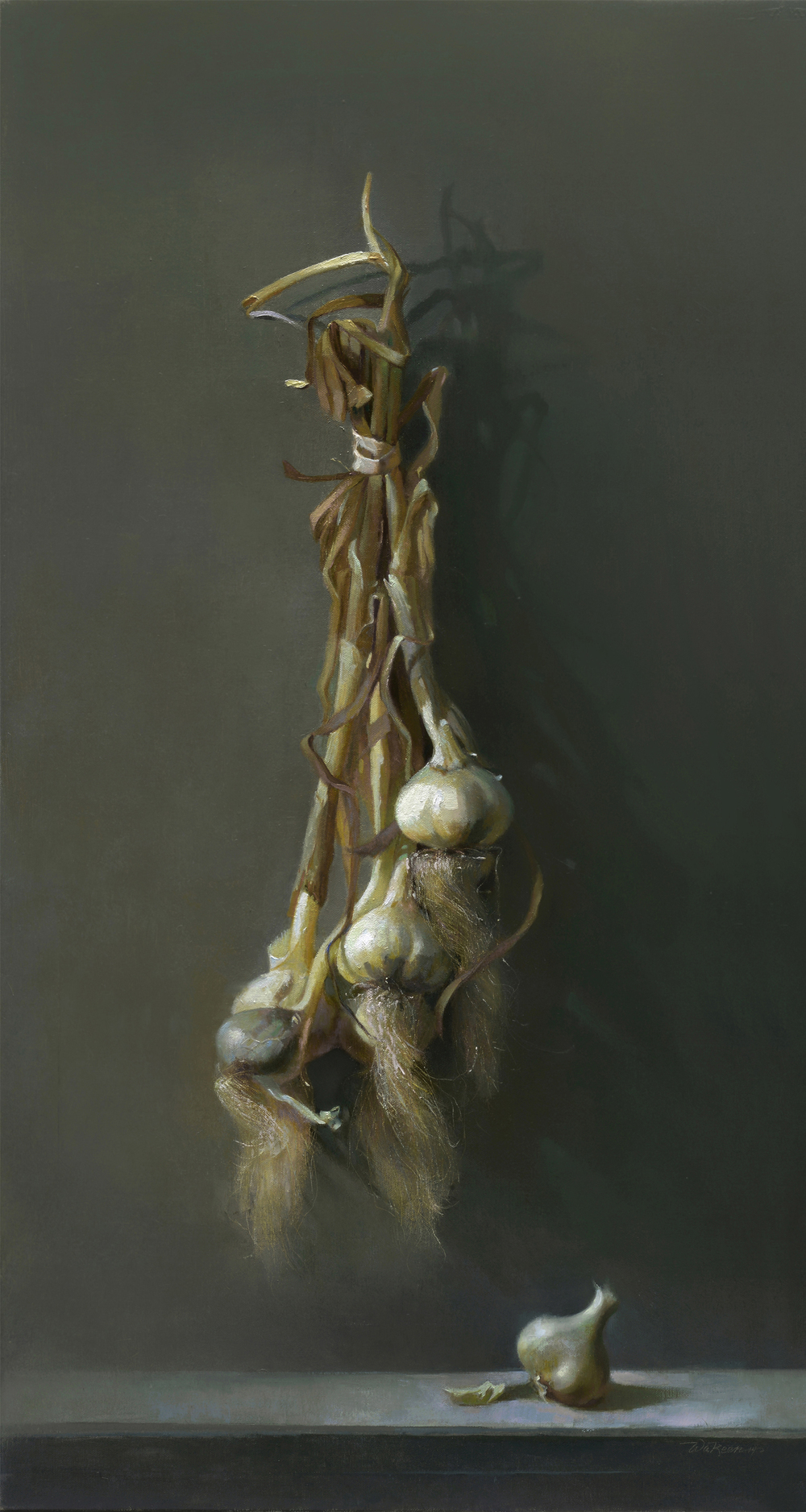 Simply Garlicoil on panel 16 x 30