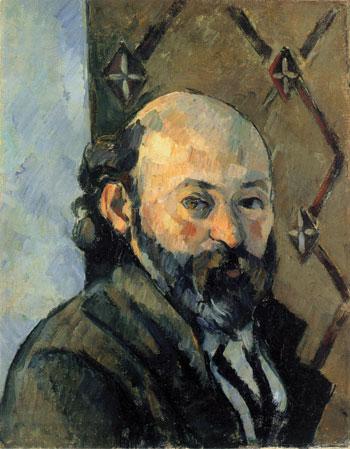 Portrait de l'artiste au papier peint olivâtre