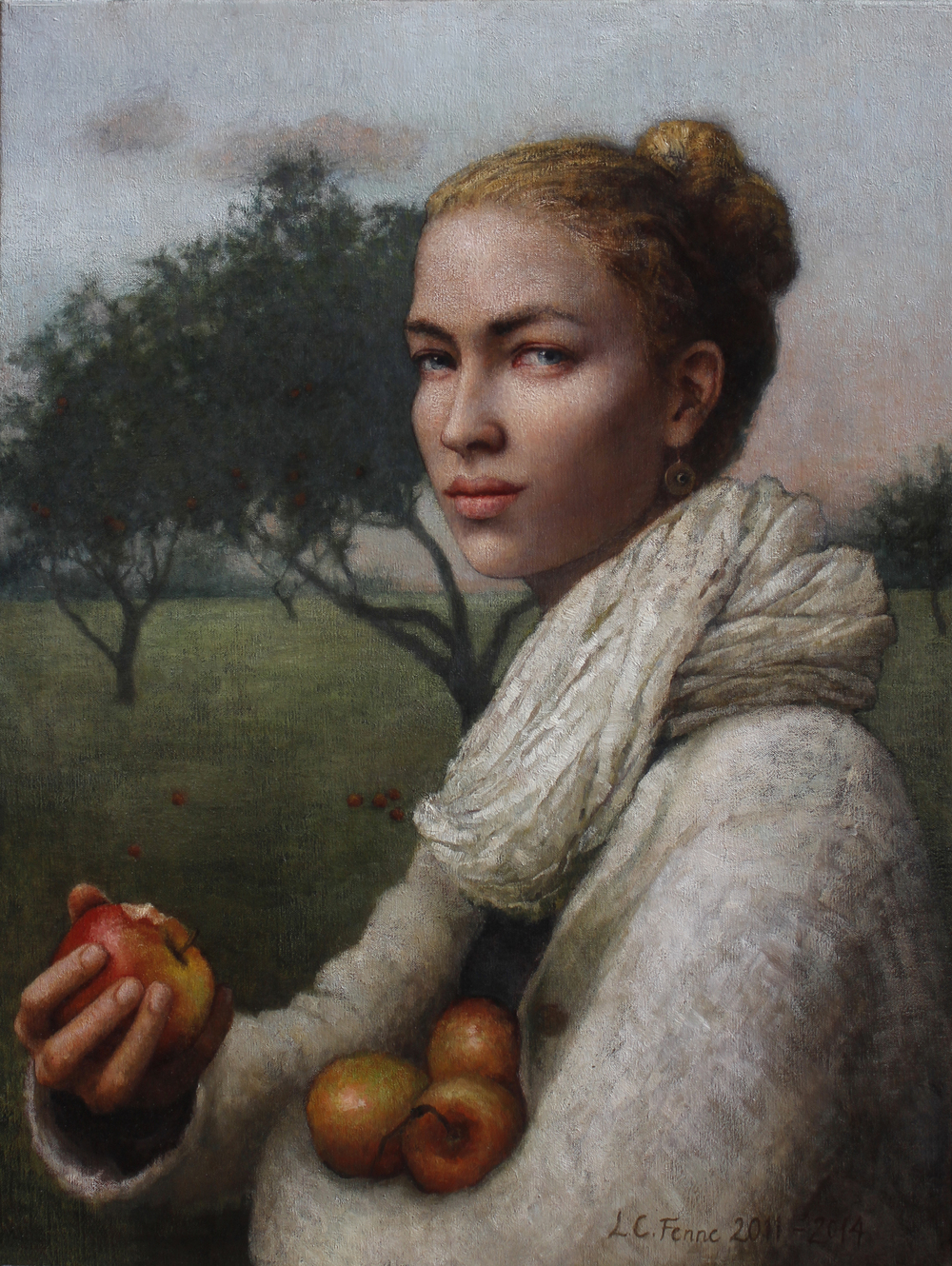 """In the Orchard"" oil on canvas 73 x 55 cm"
