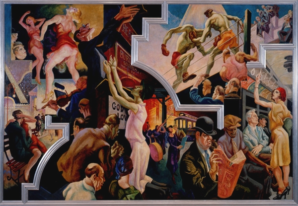 Thomas Hart Benton  ,  City Activities with Subway  , from  America Today  (1930–31). Mural cycle consisting of ten panels.  Courtesy The Metropolitan Museum of Art, New York, Gift of AXA Equitable, 2012.