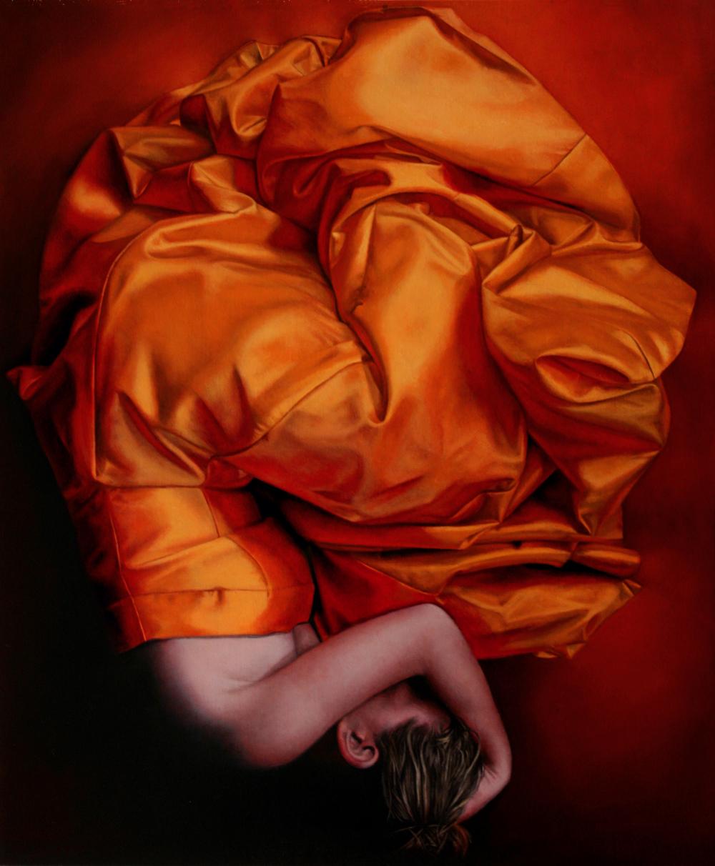 """Orange Crush"" oil on canvas 36 x 30"