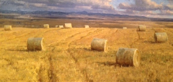 Straw Bales  by Clyde Aspevig