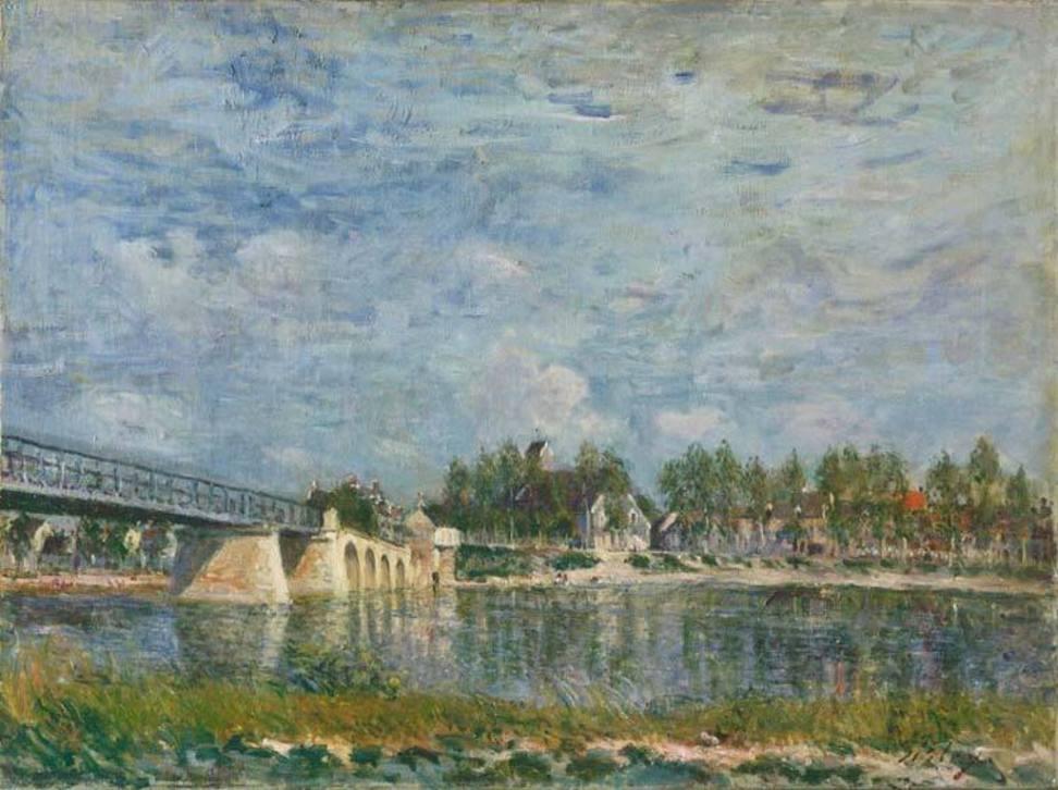 Alfred Sisley (French 1839-1899)The Bridge at Sainte-Mammes
