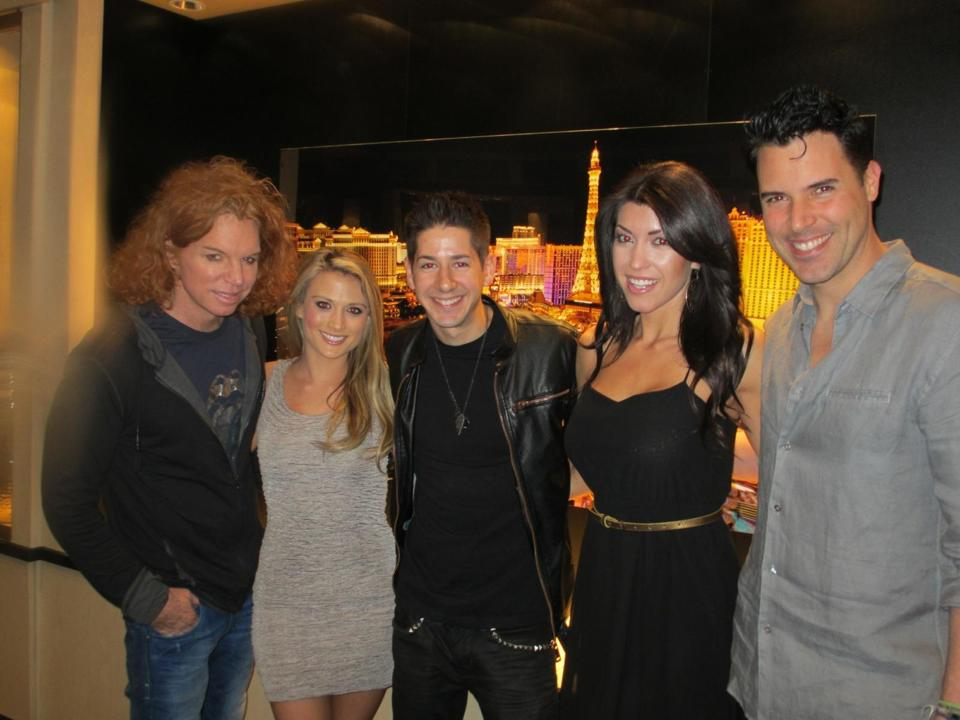 john with carrot top, frankie moreno, amanda corey (beauty and the geek winner and model).jpg