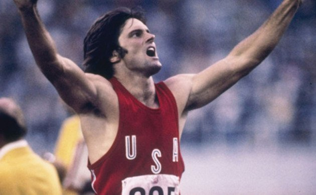 Jul 1976: Bruce Jenner of the USA celebrates during his record setting performance in the decathlon in the 1976 Summer Olympics in Montreal, Canada. Tony Duffy /Allsport