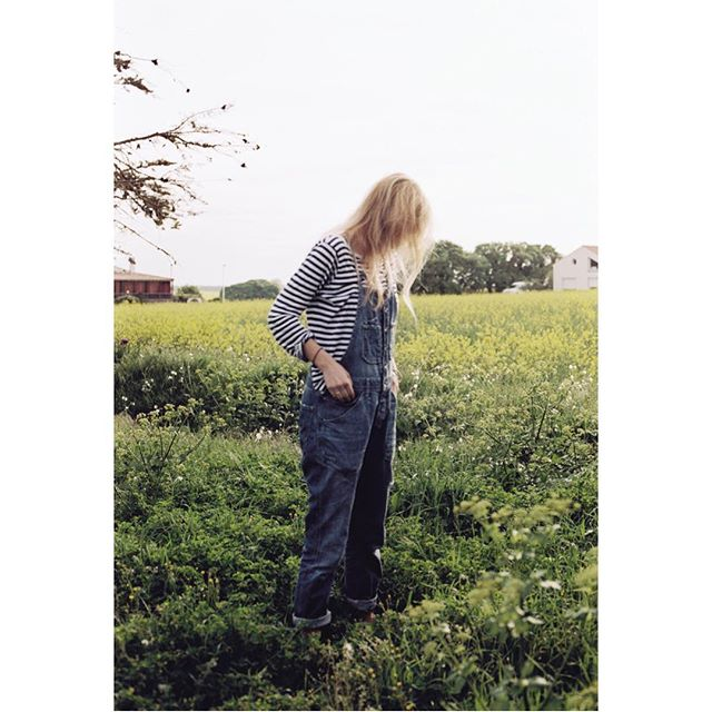 French dungarees #vanlife #travel #surftrip #dungarees #fashion #fields #flowers #35mm #analogue #kodak #france #portrait #people #surf #filmisnotdead #outdoors #explore #adventure #weactuallysleptinacarpark @lalalalalaloam