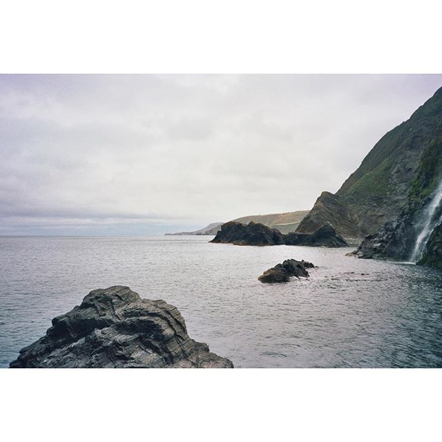 Peaceful views #Wales #Carmarthenshire #surf #surftravel #landscape #seascape #camping #hiking #adventure 35mm #analogue #filmphotography #theoutbound #justpassingthrough #kodak #filmphotography #waterfall