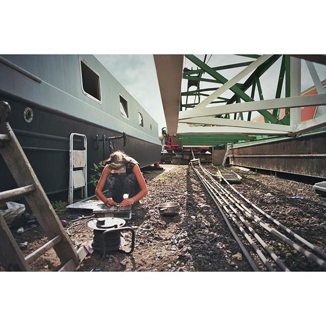Tiles cutting. #boatyard #boatlife #bristol #diy #analogue #35mm #kodak #filmphotography #filmisnotdead #summer #portrait #landscape