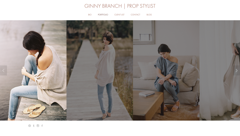 Ginny Branch // Website Design