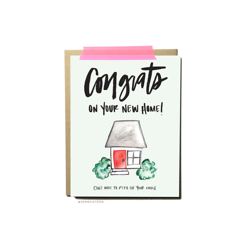 congrats on your new home card write on design
