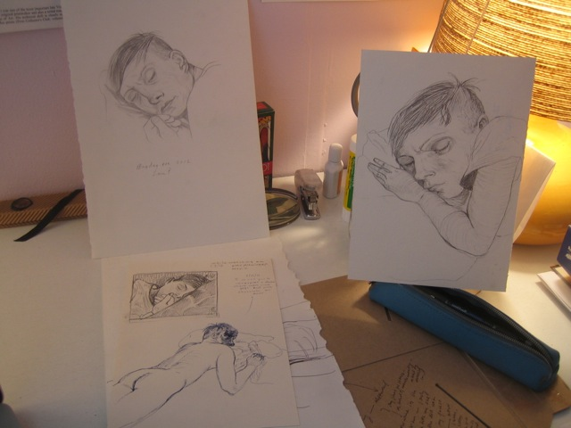 Sketches by Nicole Eisenman 2012