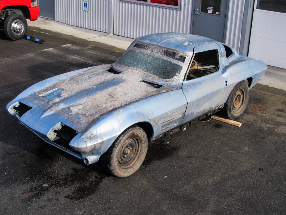A 1963 Corvette Sting Ray Owned By Bryan Frank Arrived Before Christmas  2013 For A Complete Build Including An Art Morrison Frame And An LS Motor.