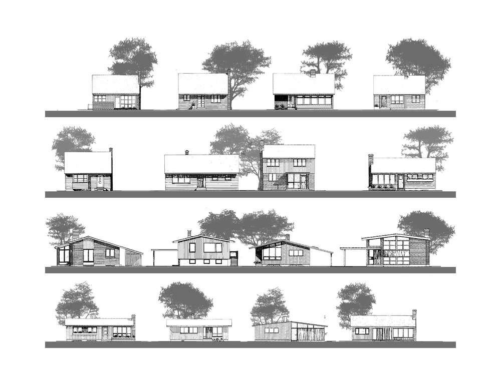 Typical postwar streetscapes using CMHC Small House Design Scheme designs.