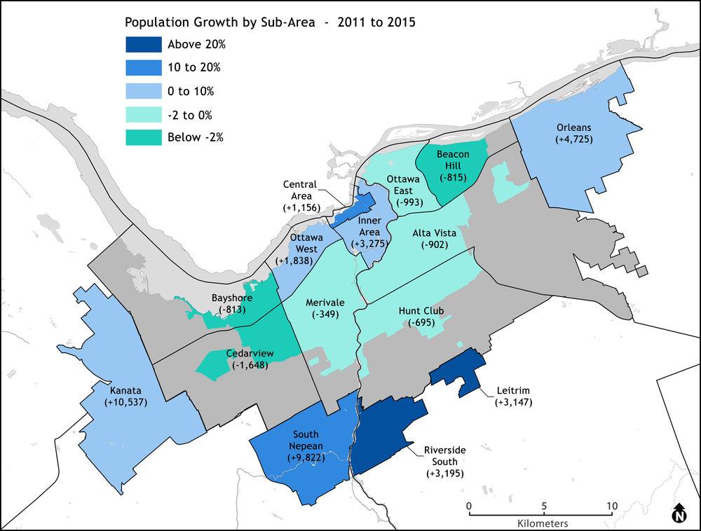 Figure 3: Source,City of Ottawa Annual Development Report 2015. Appendix Table 3