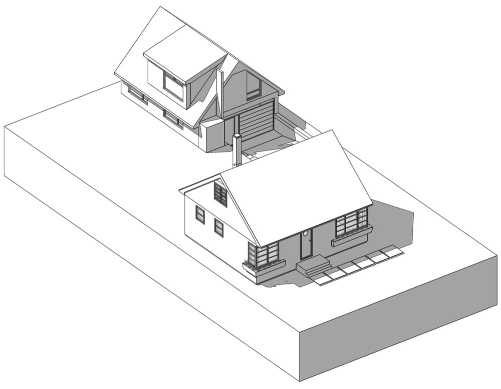 Figure 11: Example Coach House Infill Design - Shown with CMHC Design 309