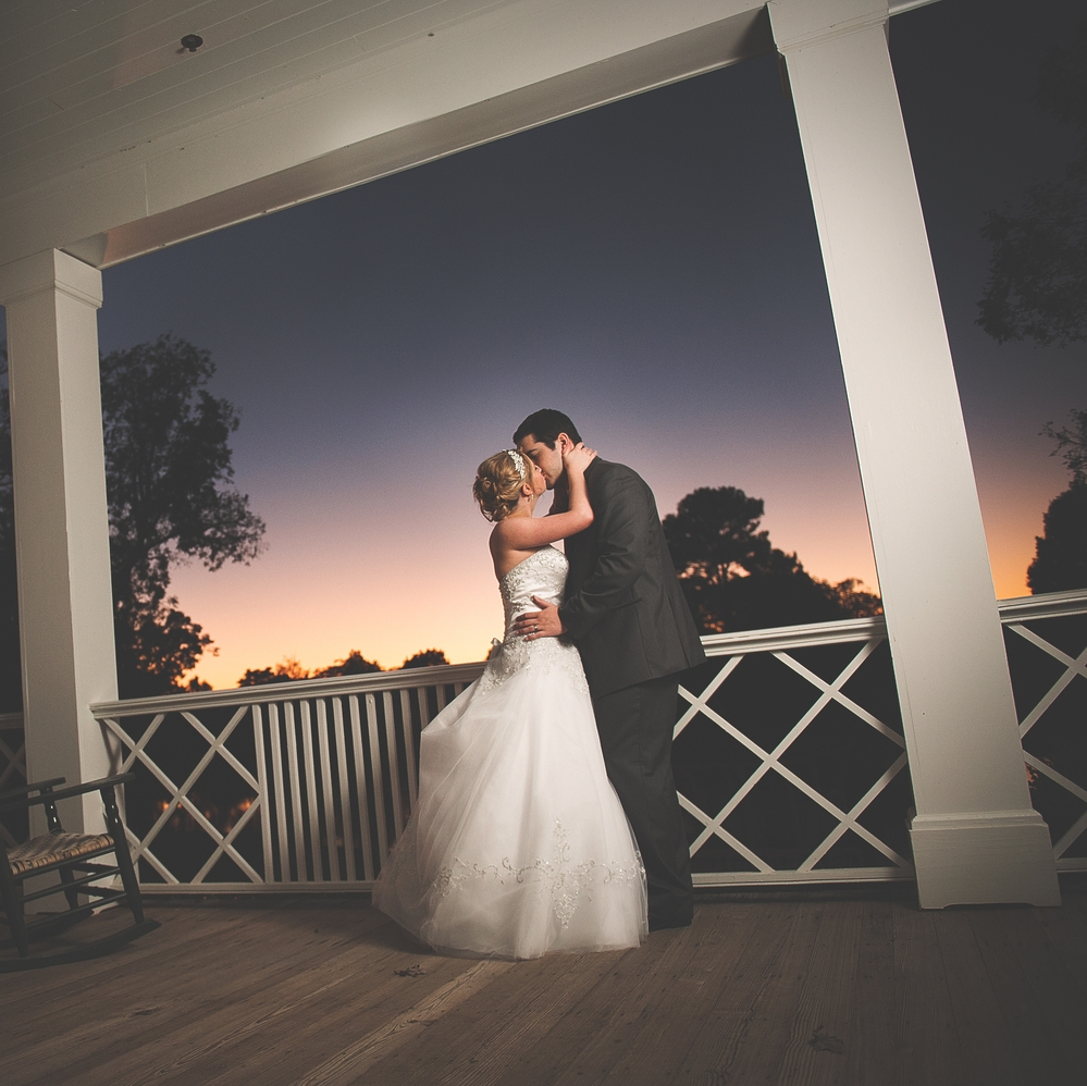 rose hill plantation wedding photography nc sunset