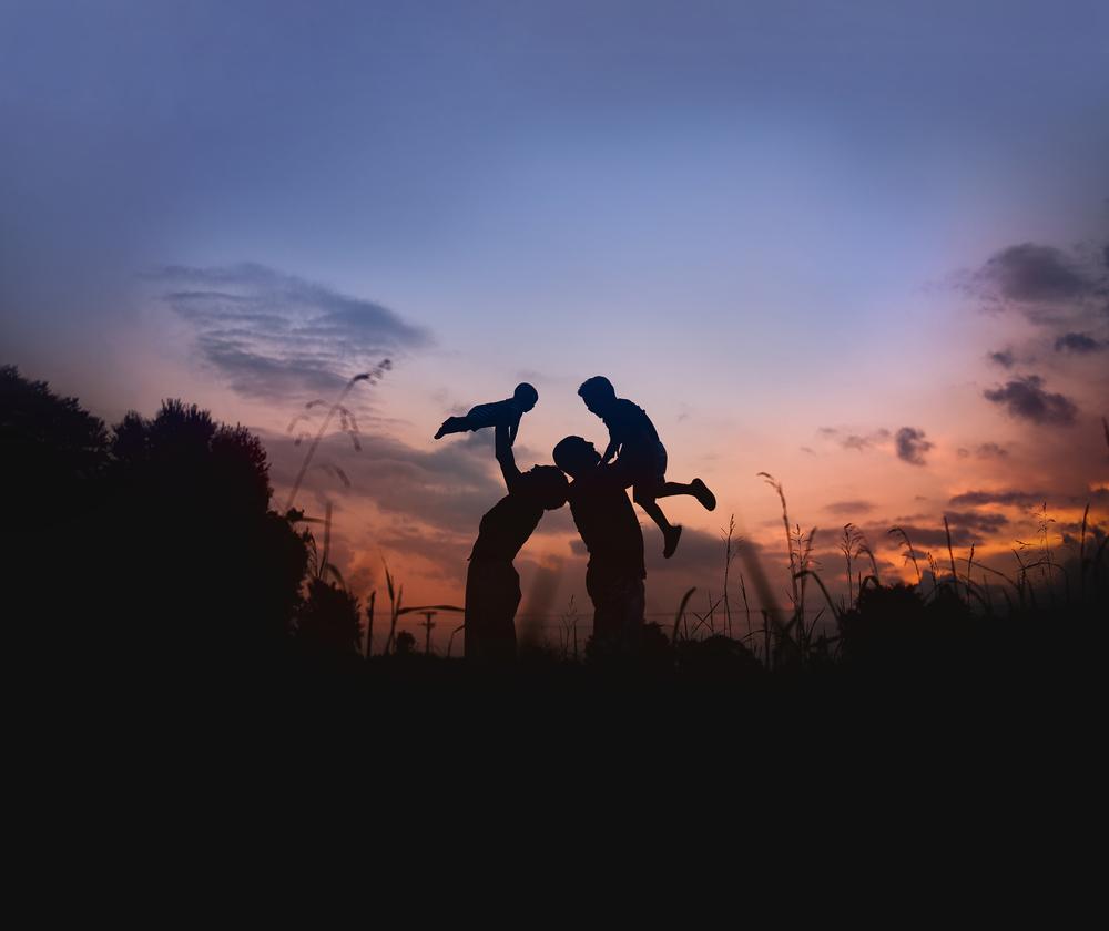 family silhouette photo in field nc jordan tickle