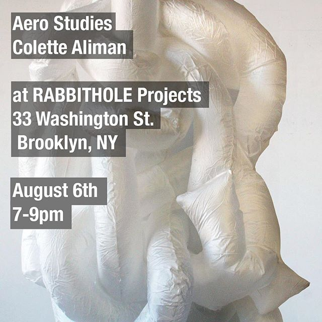 Please join me for Aero Studies on August 6th, this Saturday, from 7-9pm @rabbitholeprojects ❗️Very excited to show a new body of work, including some pieces made during my residency at the @textileartscenter  #aircycle7 #inflatables #sculpture #colettealiman