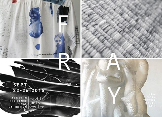 Save the date! FRAY, the final exhibition from my residency at the @textileartscenter will be open from September 22-26. #FRAY will be a part of the inaugural @newyorktextilemonth  programming in September! Very exciting 🌞 . . . #textileartscenter #textiles #inflatables #gowanus #FRAY #aircycle7 #tacresidency #sculpture #installationart #marbling #screenprinting #weaving #productdesign