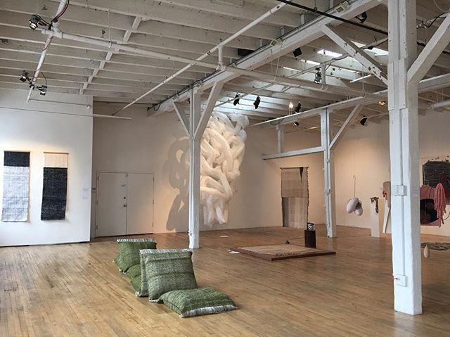 Don't miss your chance to see FRAY! I will be here from 10-7 today at Gowanus Loft! Closing reception and artist talks will be this Monday. . . . #aircycle7 #fray #textiles #sculpture #design #finalexhibition #gowanus #gowanusart #gowanusloft #textileartscenter