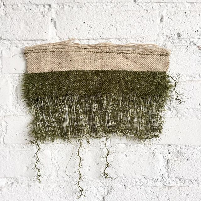 Showing some L💚VE for a triple layer woven sample.  #samples #textiles #wip #inthestudio #hanging #weaving #handwoven #trippleweave #ridgewood