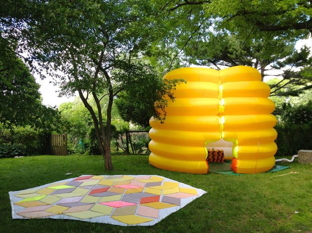 Festooning The Inflatable Beehive - 2012