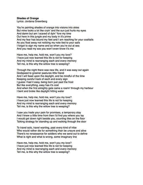Lyrics Harpeth Rising