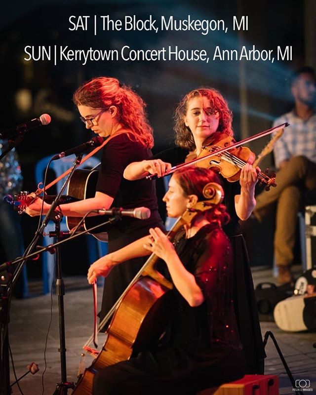 Michigan! We love you and we'll see you this weekend! Tix link in bio☝🏼 📷 @felix.l_images @kerrytownconcerthouse #theblockmuskegon #chamberfolk #cello #violin #banjo