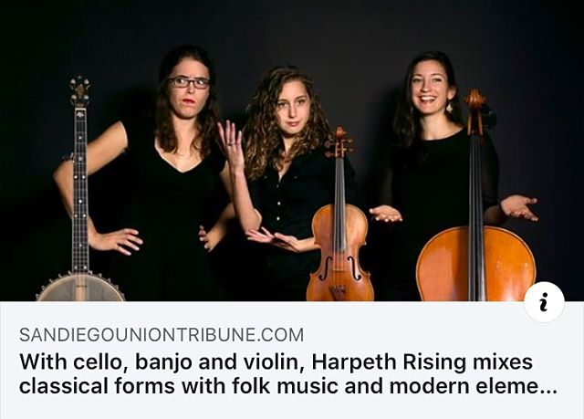 Thank you for the ❤️, @sandiegouniontribune ! Our show this Saturday at @museumofmakingmusic is SOLD OUT but you can still catch us on Sunday in Santa Ana!