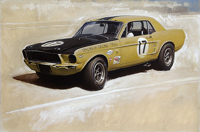 Jerry Titus driving Trans Am Mustang #2 RDLA COLLECTION
