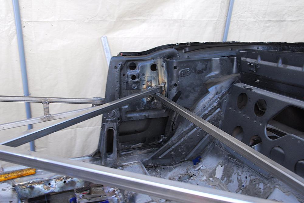 Interior brace detail.