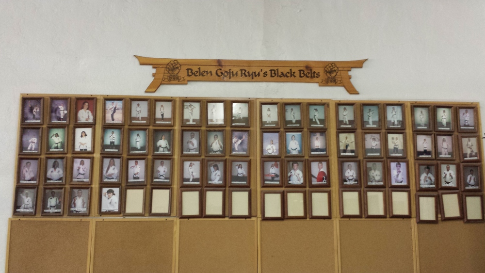 Belen Goju Ryu's Black Belt Wall