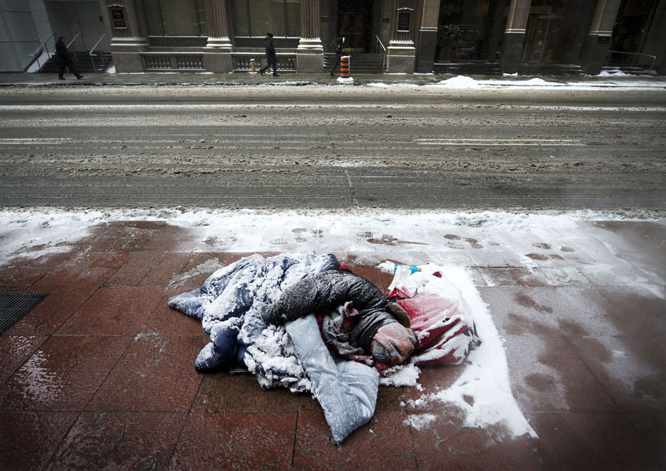 The homeless are feeling the effects of the brutal cold in Rockford, Illinois.