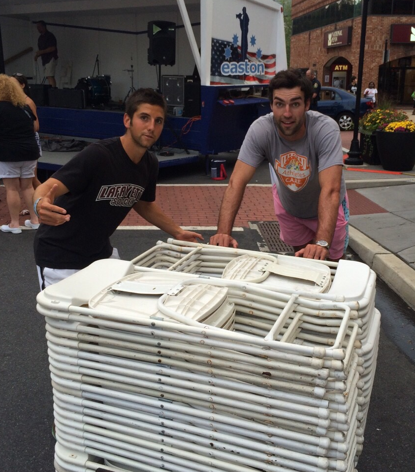 Athletes c a r e members volunteer at clam jam for 3rd ferry fish market