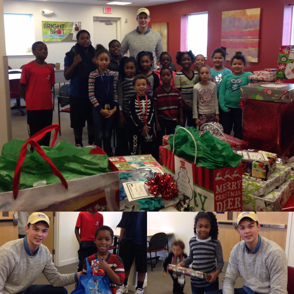 Alan Flannigan of Athletes C.A.R.E. Delivering Presents to the boys & Girls Club of Easton